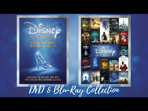 Disney Blu-ray Collection with Limited Edition Artwork Time To Believe Sleeves from the UK