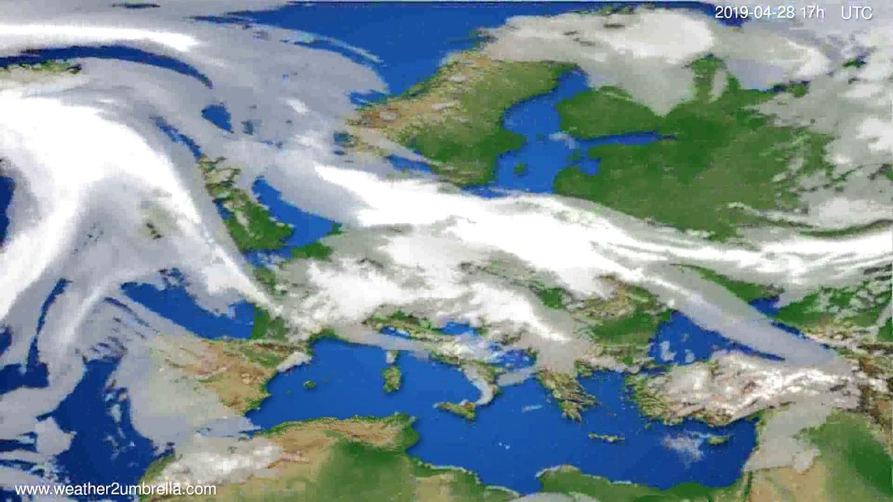 Cloud forecast Europe // modelrun: 00h UTC 2019-04-27