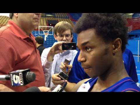 KU's Andrew Wiggins on Late Night and adjusting to college