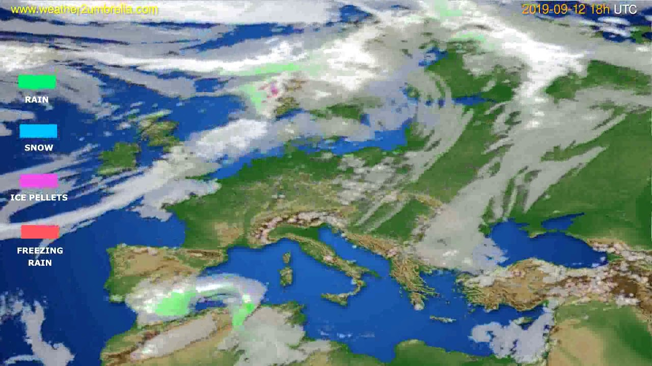 Precipitation forecast Europe // modelrun: 12h UTC 2019-09-10