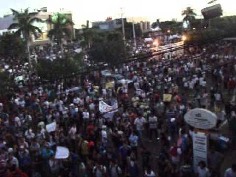 Manifestação em Palmas TO, Avenida JK em Frente a Prefeitura