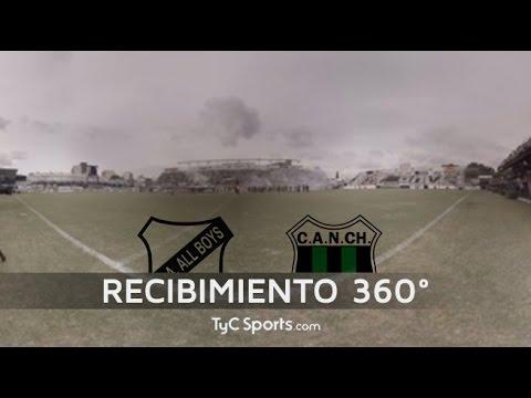 Recibimiento All Boys-Nueva Chicago en 360º | TyCSports.com - La Peste Blanca - All Boys