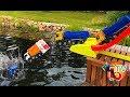 BRUDER TRUCKs Halfpipe and  GARBAGE Jump fail crash MAN Mercedes   Toys fail