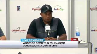 Tiger Woods Set To Return To Golf At Quicken Loans National At Congressional