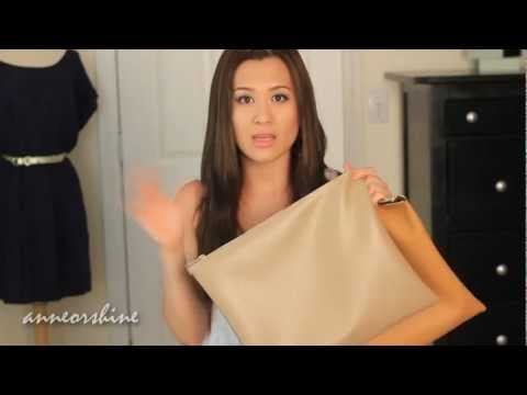 DIY: Home Made American Apparel Style Clutch/ Leather Pouch