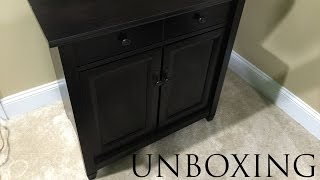 Sauder Edge Water Utility Cart/Free Standing Cabinet Unboxing
