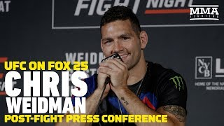 UFC on FOX 25: Chris Weidman Post-Fight Press Conference - MMA Fighting by MMA Fighting