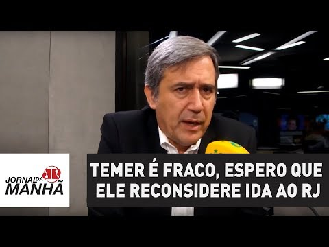 Temer é fraco, espero que ele reconsidere ida ao RJ | Marco Antonio Villa (видео)