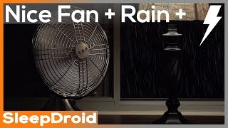 How to fall asleep fast! Enjoy the sound of dripping rain and thunder sound with the sound of a medium speed fan. Fan white noise combined with relaxing rain and thunderstorm. 10 hours of rain sounds for sleeping. Enjoy this great rainstorm and let me know if it helped you fall asleep fast in the comments below.  This Vornado desk fan is smaller than a box fan, but still sounds great.  Add in a thunderstorm and you're in for a great night.If you need help focusing when you study, try using this relaxing rain at night with thunder. Learn how to fight that insomnia or fall asleep fast by using relaxing 10 hour rain sounds.  ❤ Subscribe for more videos:  https://www.youtube.com/c/SleepdroidStudios?sub_confirmation=1►Smartphone users: Instead of headphones at night, try a little bluetooth speaker. This is the one I bought on Amazon, and it is pretty cheap: http://goo.gl/0jQWd6♫ ♪ More of my top sleep and nature sounds:1. Rain on a tin roof:► https://youtu.be/s61TmfE3zY4?list=PLWgOL5UzMqBfDh67ks0ov4xton6WuH0Bw2. Rain on a tent:► https://youtu.be/Qxljh_HUaIo?list=PLWgOL5UzMqBdan3rVNeBn9NEZNDs3MS4O3. Rain in a barn:► https://youtu.be/5z70aFTf-qI?list=PLWgOL5UzMqBdan3rVNeBn9NEZNDs3MS4O4. Rain on an umbrella:► https://youtu.be/HbV3wX20hoI?list=PLWgOL5UzMqBdan3rVNeBn9NEZNDs3MS4O5. Rain + thunder on metal:► https://youtu.be/XpallRlzxPk?list=PLWgOL5UzMqBdan3rVNeBn9NEZNDs3MS4O6. Clothes/Tumble dryer:► https://youtu.be/EJmnZH3LzkY?list=PLWgOL5UzMqBccOmK5HdSw1OvHXFnjDxFM7. Vacation ran and thunder:► https://youtu.be/dmrzfDDFM0Y?list=PLWgOL5UzMqBdan3rVNeBn9NEZNDs3MS4O8. Forest rain and thunder:► https://youtu.be/D-79IArIASQ?list=PLWgOL5UzMqBdan3rVNeBn9NEZNDs3MS4O9. Huge thunderstorm:► https://youtu.be/qTQ8QCWzHJQ?list=PLWgOL5UzMqBdan3rVNeBn9NEZNDs3MS4O10. Seaside storm:► https://youtu.be/HXgx2vIqSzk?list=PLWgOL5UzMqBfDh67ks0ov4xton6WuH0Bw11. Rain on glass:► https://youtu.be/a82m7PY5FFE?list=PLWgOL5UzMqBfDh67ks0ov4xton6WuH0Bw12. Radio static white noise:► https://youtu.be/uUOHpxNlOo