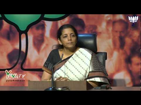 Smt. Nirmala Sitharaman on issue of Black Money and statement of Priyanka Gandhi