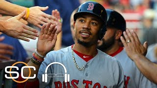 Mookie Betts explains what it feels like to be compared to some of the greatest players in baseball and how the Boston Red Sox...