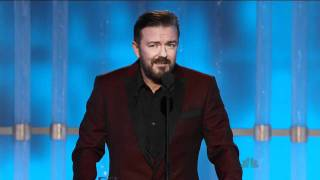 Video Golden Globes 2012 - Ricky Gervais Opening Monologue MP3, 3GP, MP4, WEBM, AVI, FLV Maret 2019