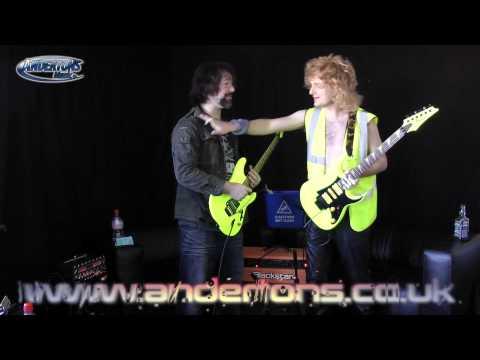 Ibanez 25th Anniversary RG1XXV and S1XXV Fluorescent Guitars