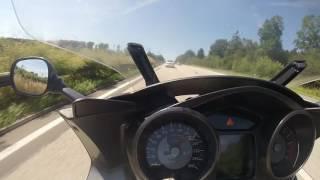 7. BMW K 1300 GT- Hockenheim-Zeist, snelle snelweg shots. 180-235km/uur
