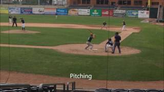 Midwest Prospect Series @ US Steel Yard on July 12th, 2016. Video of 2 At-Bats & pitching/pick-off.