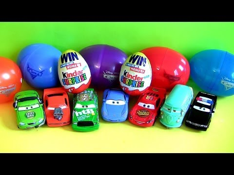 carro mcqueen - From disney pixar cars, here we have 8 disney cars holiday edition easter eggs and 2 kinder egg toy surprise. Comes with lightning mcqueen, sally carrera, fi...