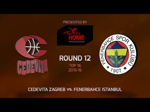 Highlights: Top 16, Round 12, Cedevita Zagreb 89-59 Fenerbahce Istanbul
