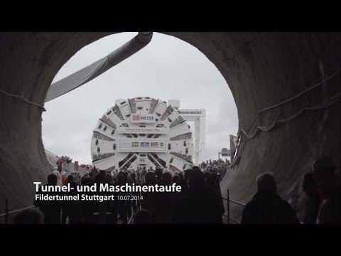 Tunnel und Maschinentaufe am Filderportal