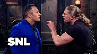 The Rock Monologue: WWF Stars Stop By - Saturday Night Live