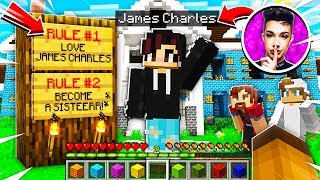 I Joined a JAMES CHARLES *SECRET* Minecraft Server and SAW THIS..