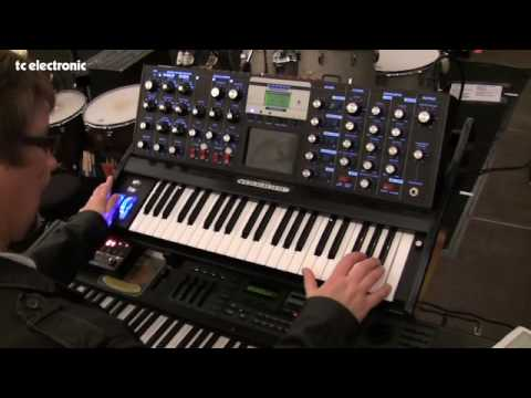 Check out the keyboard rig of Deep Purple keyboardist, Don Airey. Obviuously, he uses a Hammond organ, but he also has a lot of synths on-stage. In particular, he cherishes his Moog synth, and he treats it with a couple of TC Electronic effects: a Nova Delay to create a full and rich sound and a Nova Modulator for high quality flanger effects. On the Hammond he uses a Nova Reverb for creating a classic Hammond Spring effect.  Don has kindly provided a diagram of his setup: http://www.tcelectronic.com/files/misc-pdf/don-airey-setup.pdf