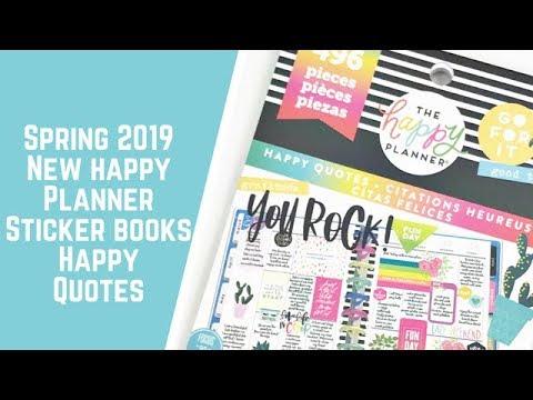 New Sticker Book Flipthrough- Happy Quotes