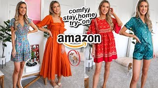 AMAZON SPRING TRY ON UNDER $35 | COMFY DRESSES + CUTEST PJS | leighannsays by Leigh Ann Says