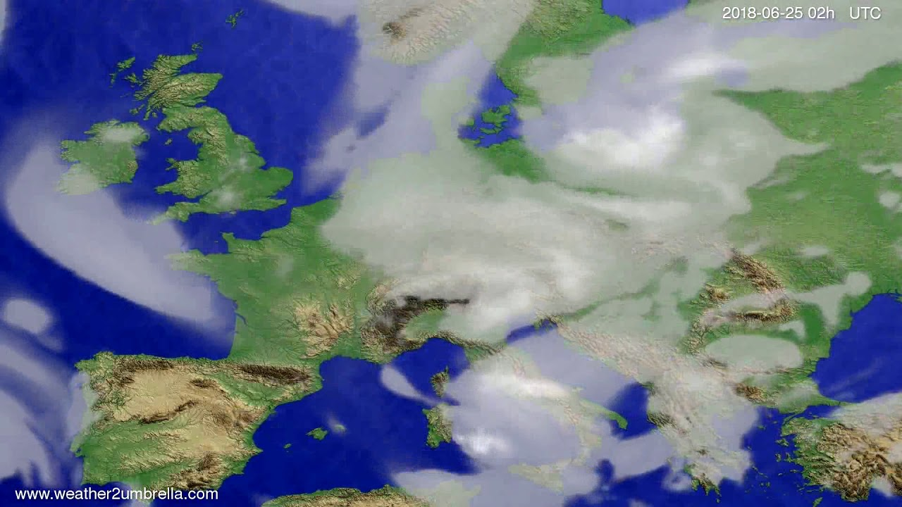 Cloud forecast Europe 2018-06-21