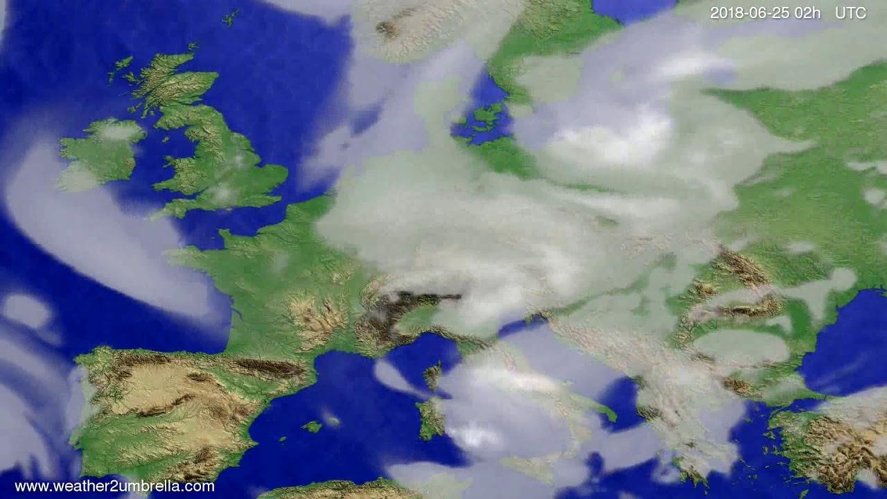 Cloud forecast Europe 2018-06-21