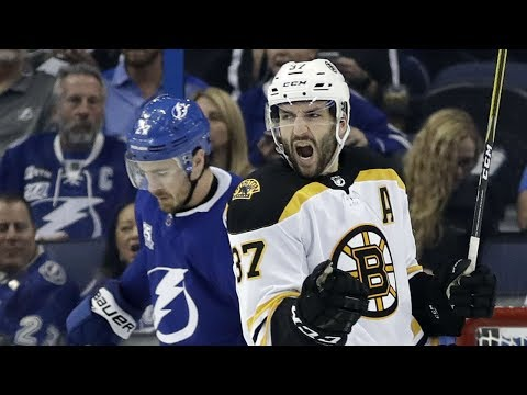 Video: Bergeron leads Bruins to Game 1 victory over Lightning