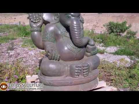 Stone Green Garden Ganesha 37