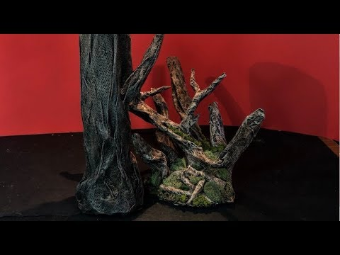 How to make Paper Mache Trees / Bark for Dioramas Tutorial