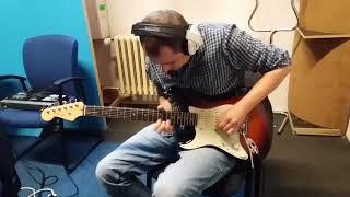 Video Rado nahrává kytarové sólo do skladby Tajná přání :)