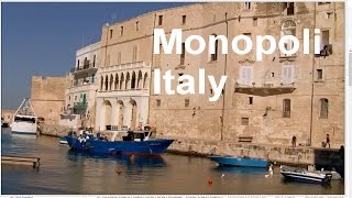 Monopoli Italy  city pictures gallery : Monopoli Italy, Old Port, Charles V castle, Beach - LVBO Travel Videos