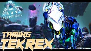 TAMING A TEK REX In The LUNAR BIOME!! - Ark Genesis [#8]