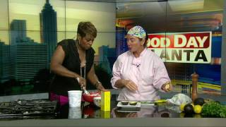 """She is known for her delicious soups but """"Souper Jenny,"""" is mixing things up with a tasty on Good Day Atlanta with a tasty Georgia..."""