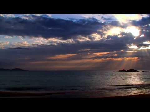 Timelapse am Strand von Capu Laurosu an der Rizzanese Mündung.