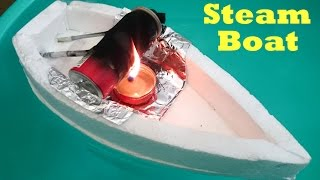 Video How to Make a Steam Boat using bottle at Home MP3, 3GP, MP4, WEBM, AVI, FLV September 2018