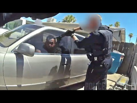 Uzbrojony nie chciał wyjść z auta więc skończył jak dziurawy ser