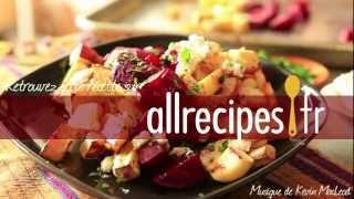Salade de légumes racines grillés