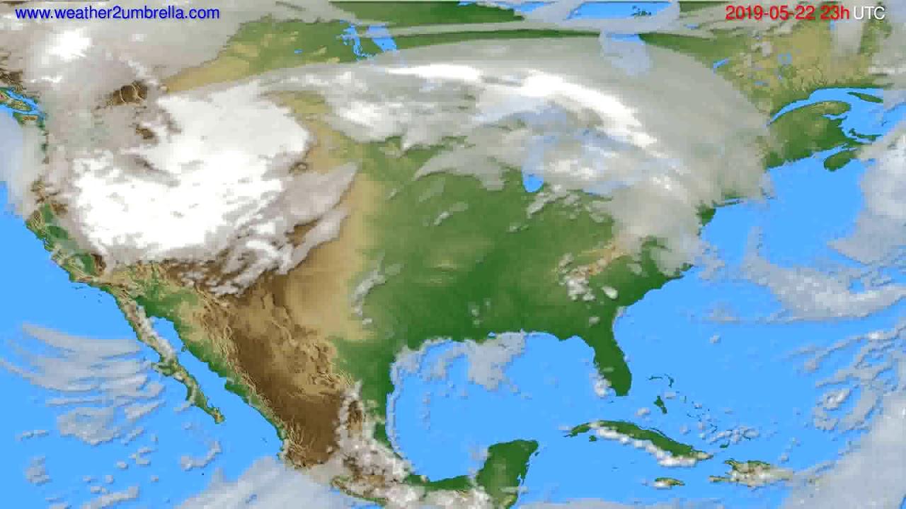 Cloud forecast USA & Canada // modelrun: 12h UTC 2019-05-19