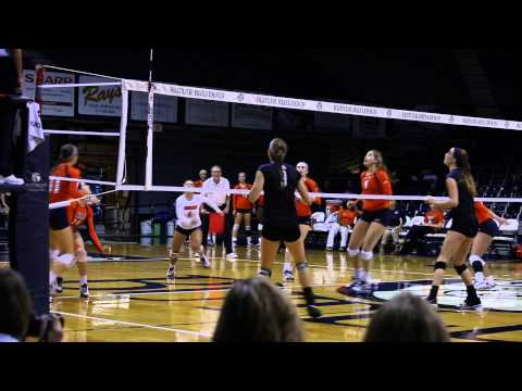 Butler Volleyball Highlights vs. UT Martin