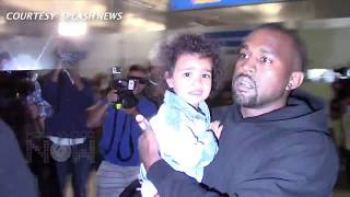 KANYE WEST SERVED IN A WHIRLWIND OF PAPARAZZI
