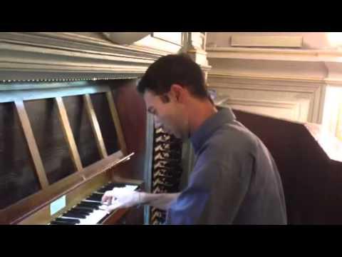 Ivan Pedrocca suona l'organo antico della chiesa di Mombello