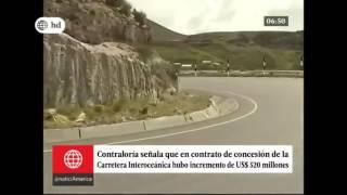 Contralor advirtió de incremento en inversión de la Carretera Interocéanica (Canal 4)