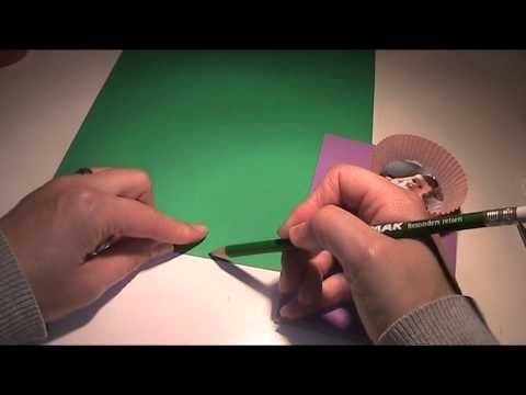 Anleitung – Tolles Bild mit Muffinpapier basteln