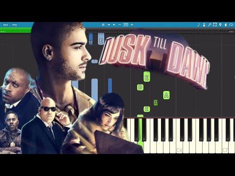 видео игры на фортепиано - Dusk till dawn (ft. Zayn)
