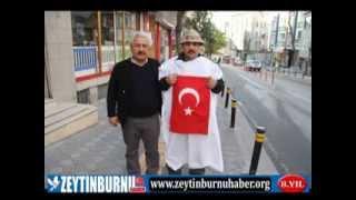 Zeytinburnu'ndan Ankaraya Kadar Başbakan Erdoğan'a Kefenli Destek İçin Yolara Düştü