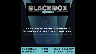 The Black Box Speaks, March 3, 2018