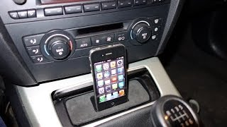 If you don't know how to connect your iPhone with to your car without wiring and would rather avoid the more expensive BMW solution, here is some inspiration...